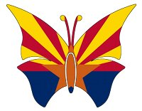butterfly arizona state flag