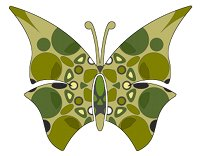 butterfly khaki camouflage