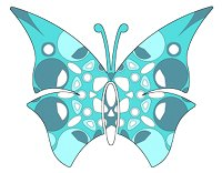 butterfly teal