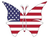 butterfly usa flag
