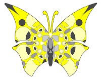 butterfly yellow black