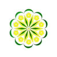 floral yellow green